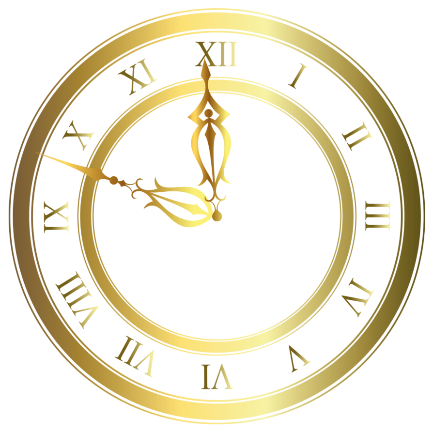 Gold Clock Png image #25761