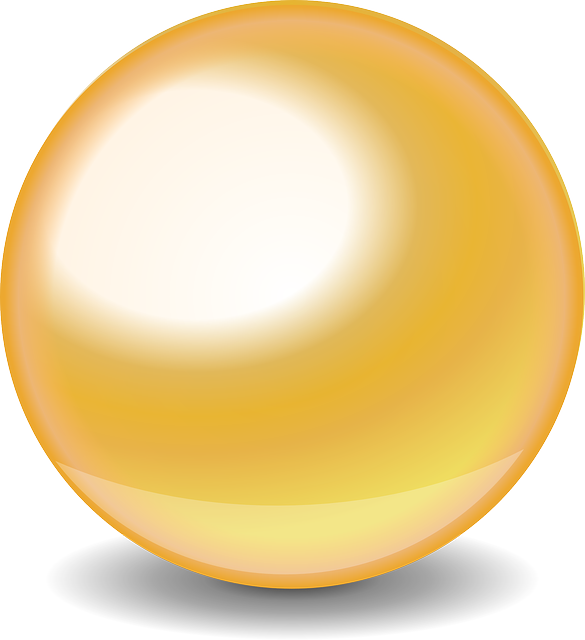 Gold Glossy Ball Png image #26216