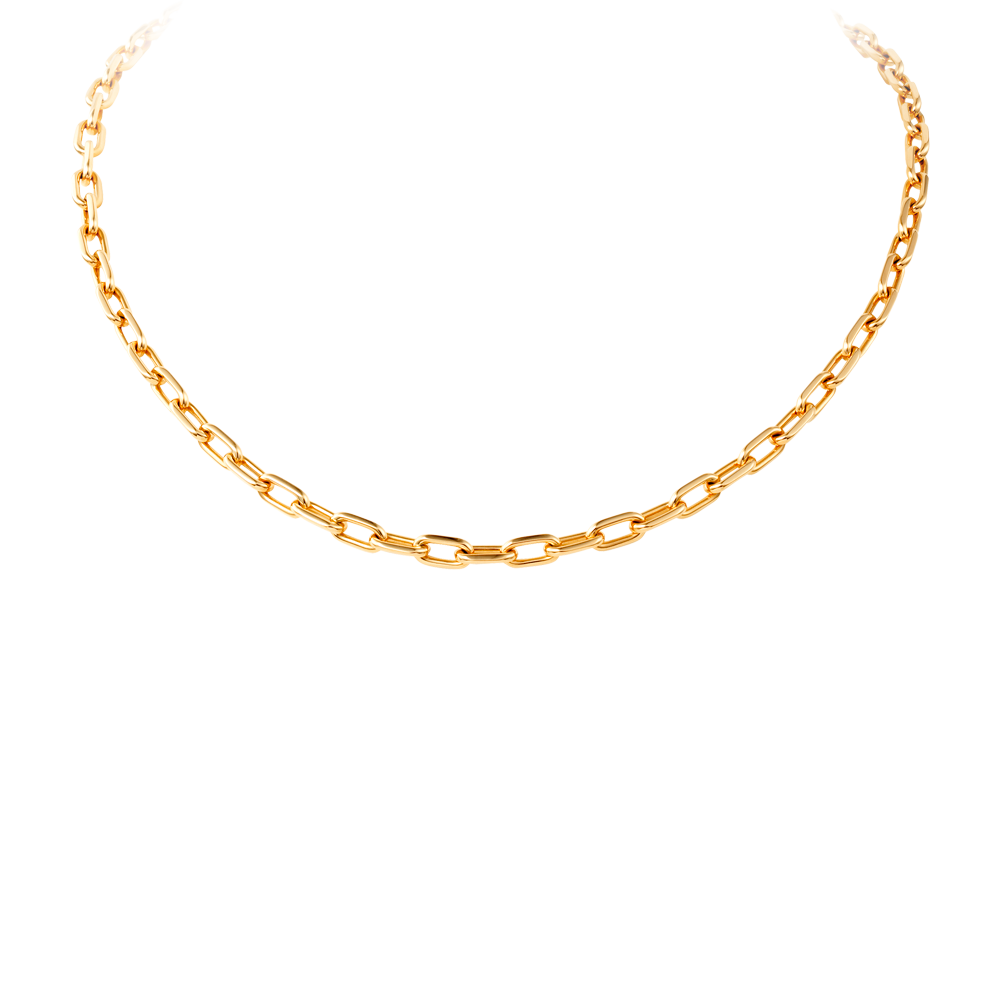 Gold Link Chain Necklace PNG image #42706