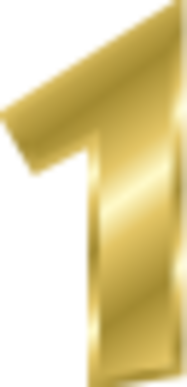 Gold Number 1 vector Clip Art