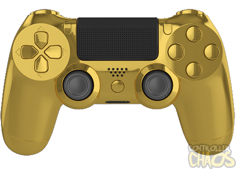 gold ps4 controller png
