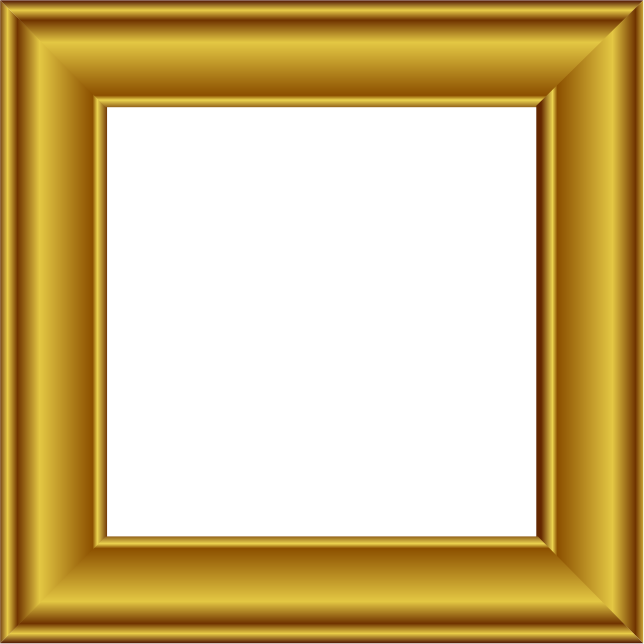 gold square frame png image 25168