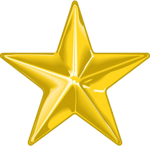 Golden Christmas Star Png image #33909