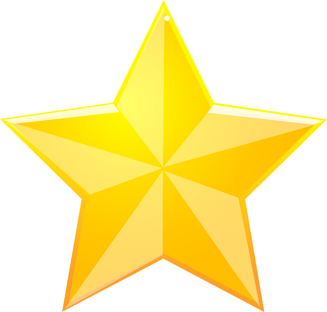 Golden Christmas Star Png image #33912