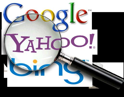 Google, Yahoo, Bing Seo logo