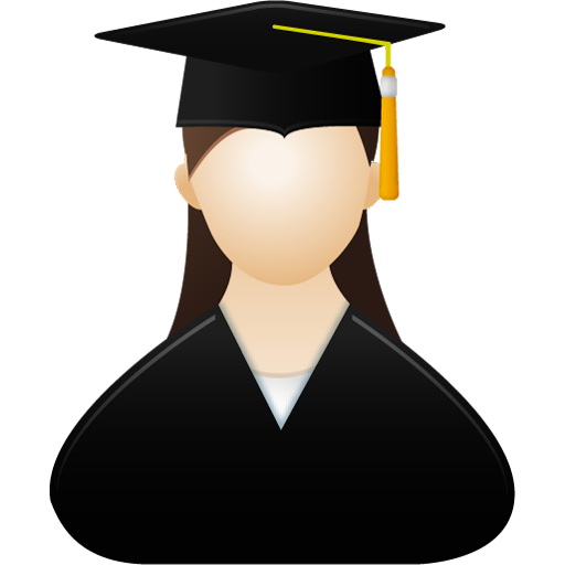 Graduate Cap Female Icon image #7825