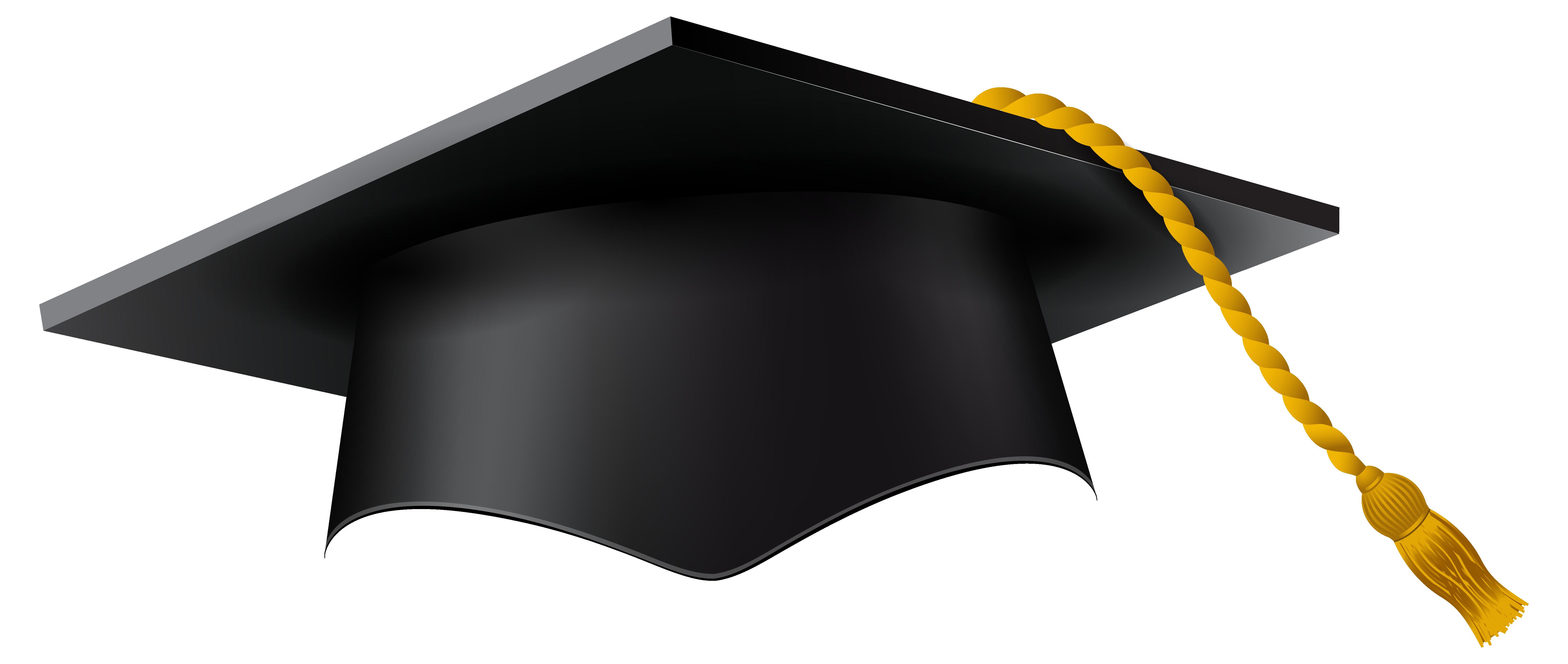 Graduation Cap Black PNG Image