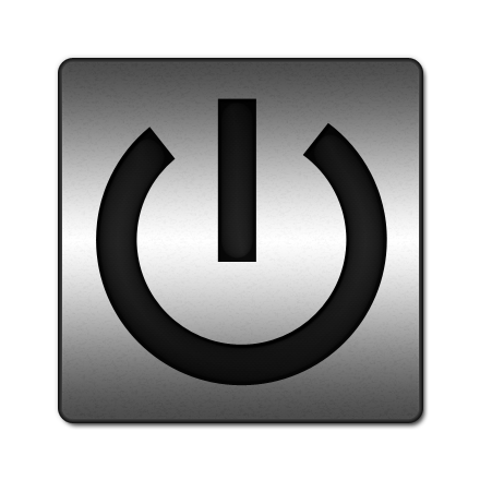 Gray Power Button Icon image #8348