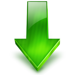 Green Arrow Down Icon Png image #6705
