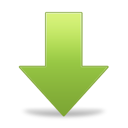 green arrow down icon png