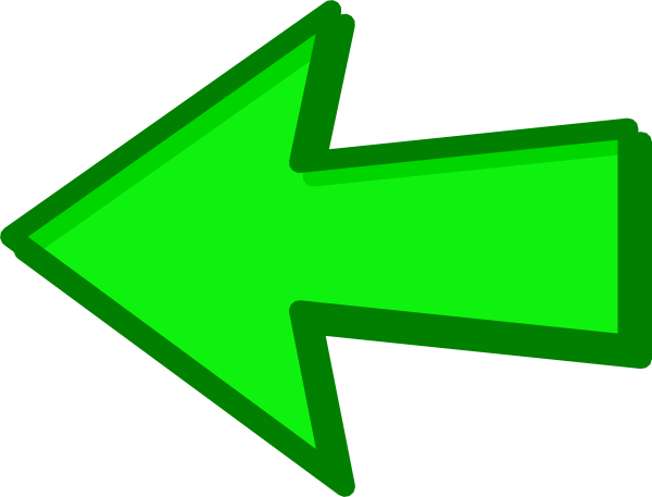 Left Green Arrow Png image #16641