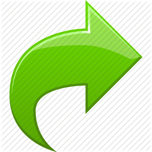 green curved arrow png