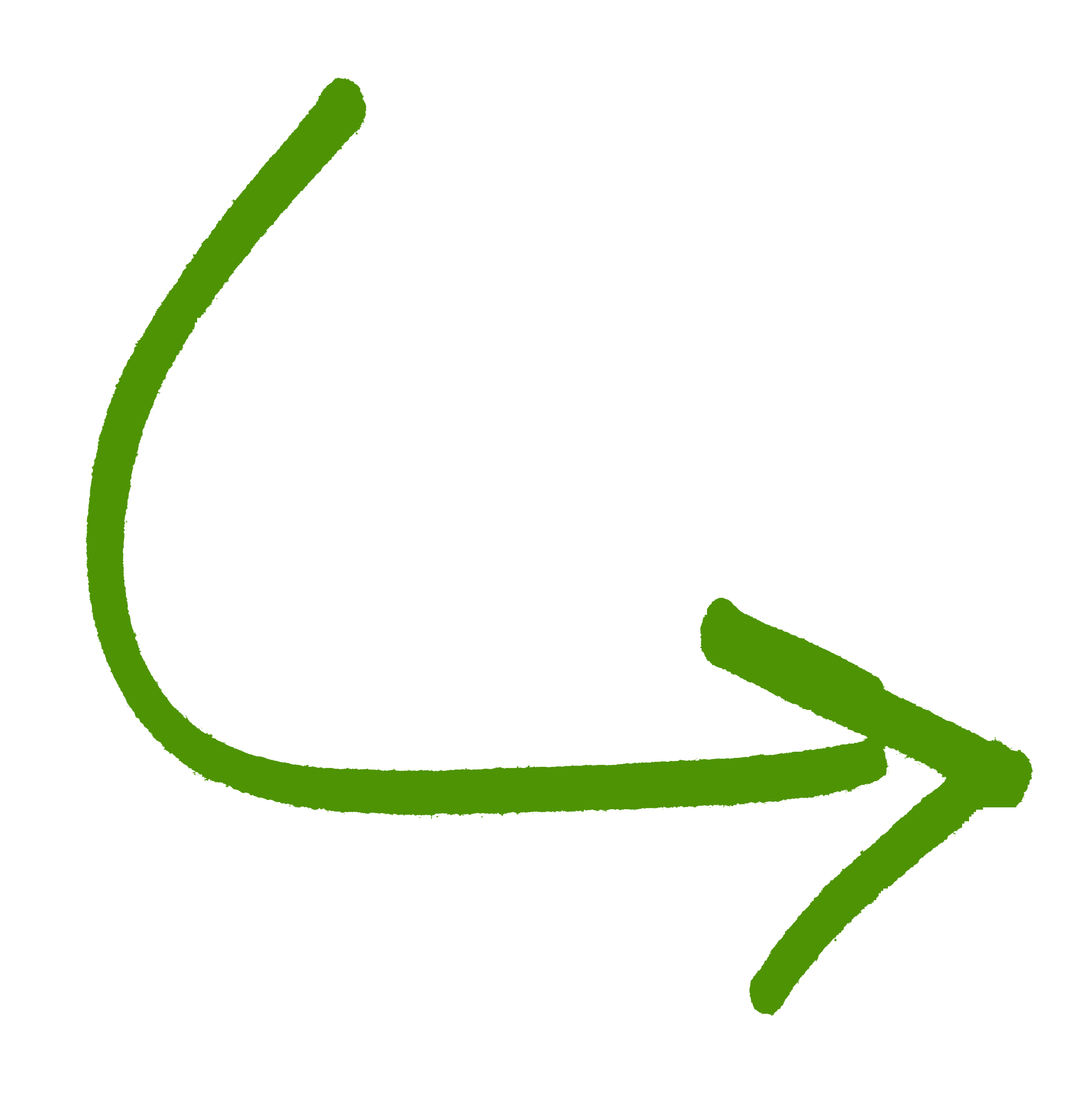 green down curved arrow png