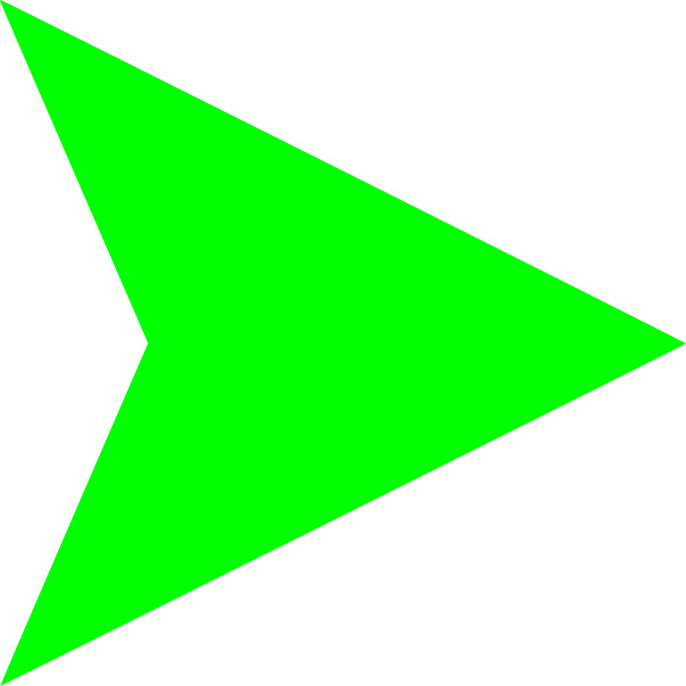 Right Light Green Arrow Png image #16655