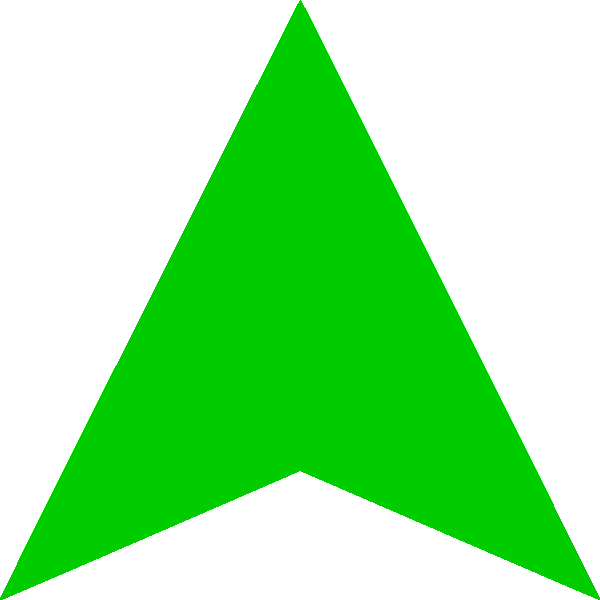 Up Large Green Arrow Png image #16661