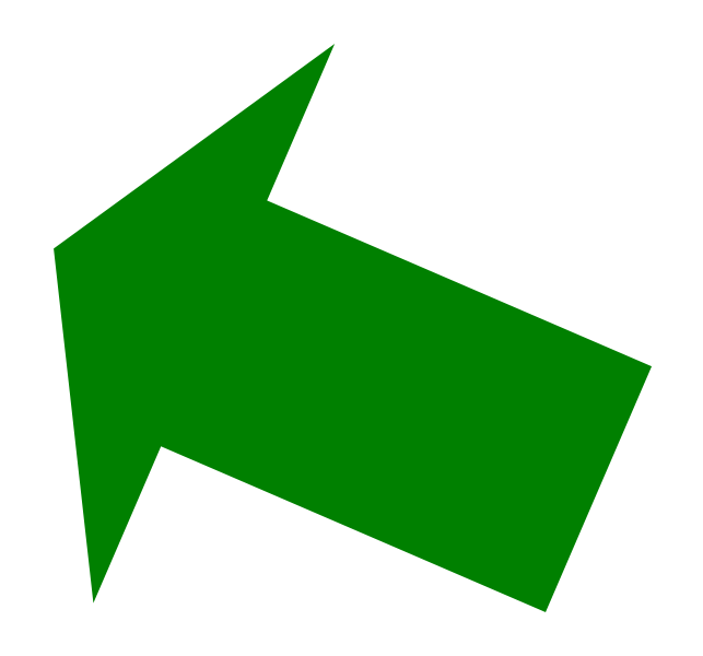 Green Up Right Arrow Png image #16662