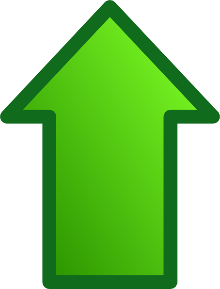 Green Up Arrow Png image #16643