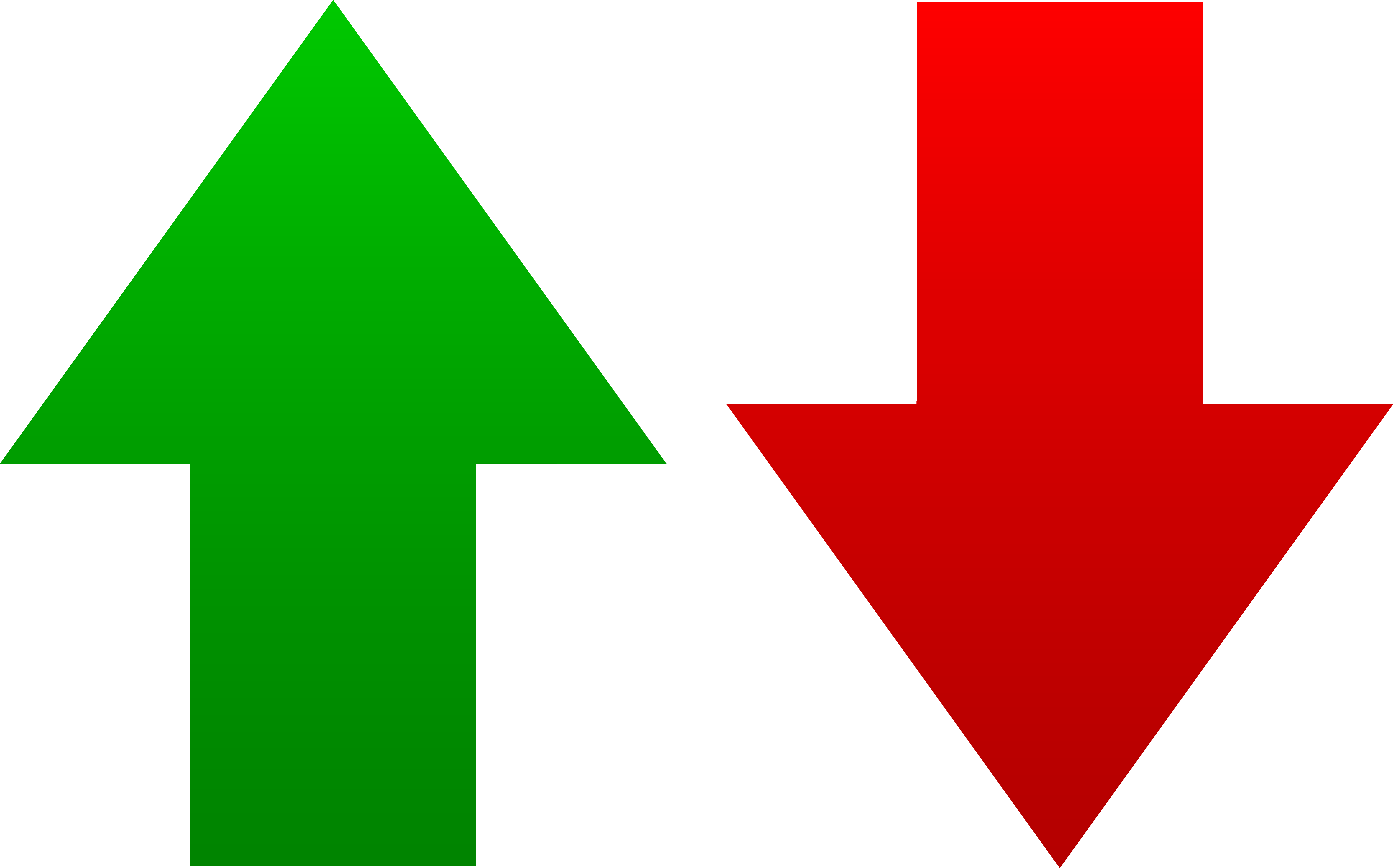 green red arrow png