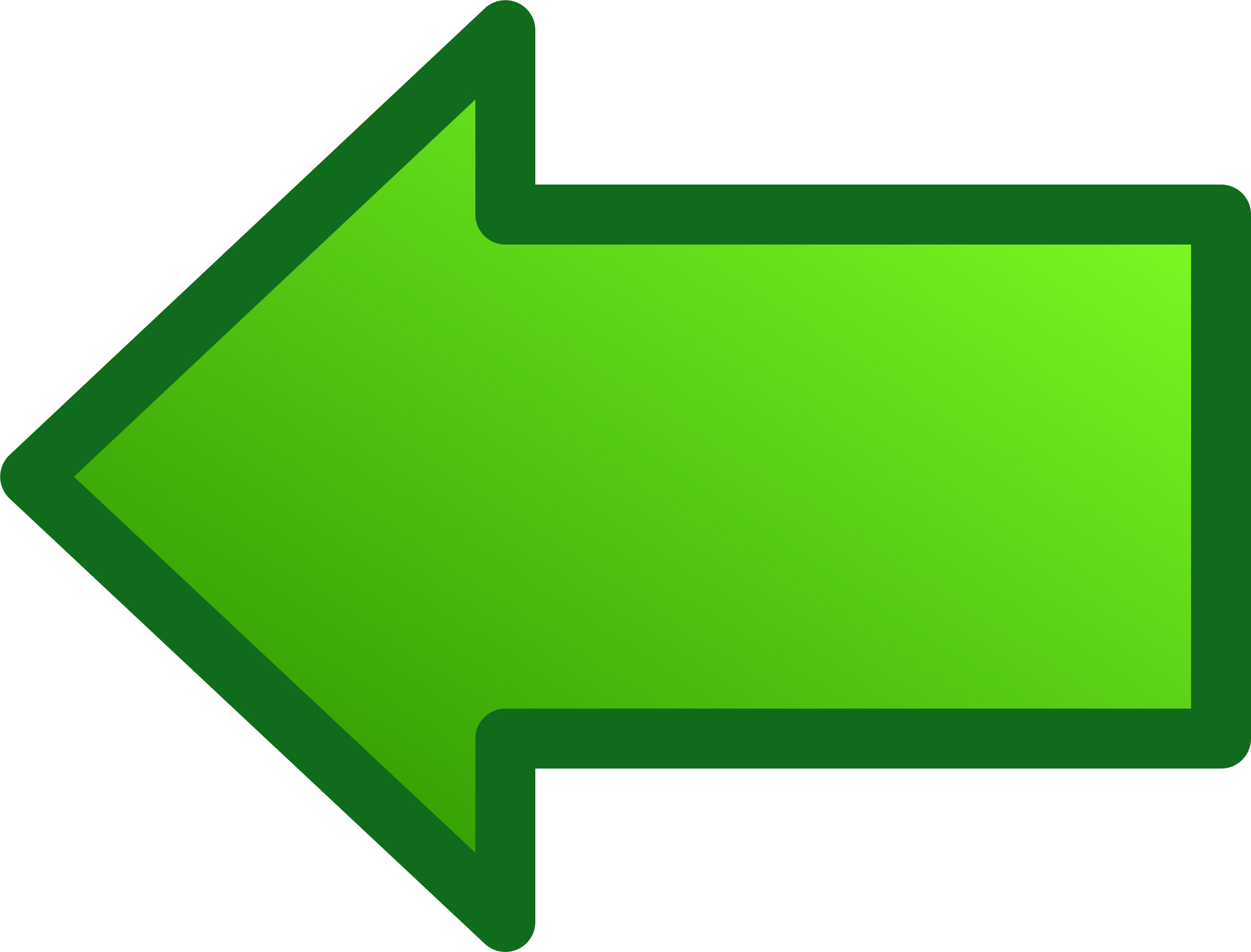 Green Bordered Arrow Png image #16664