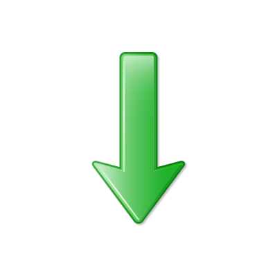 Green Down Arrow Png image #16647
