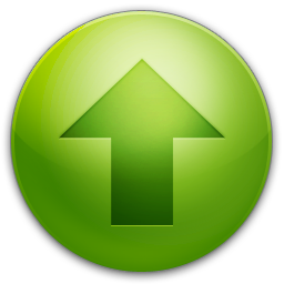 green arrow up circle icon