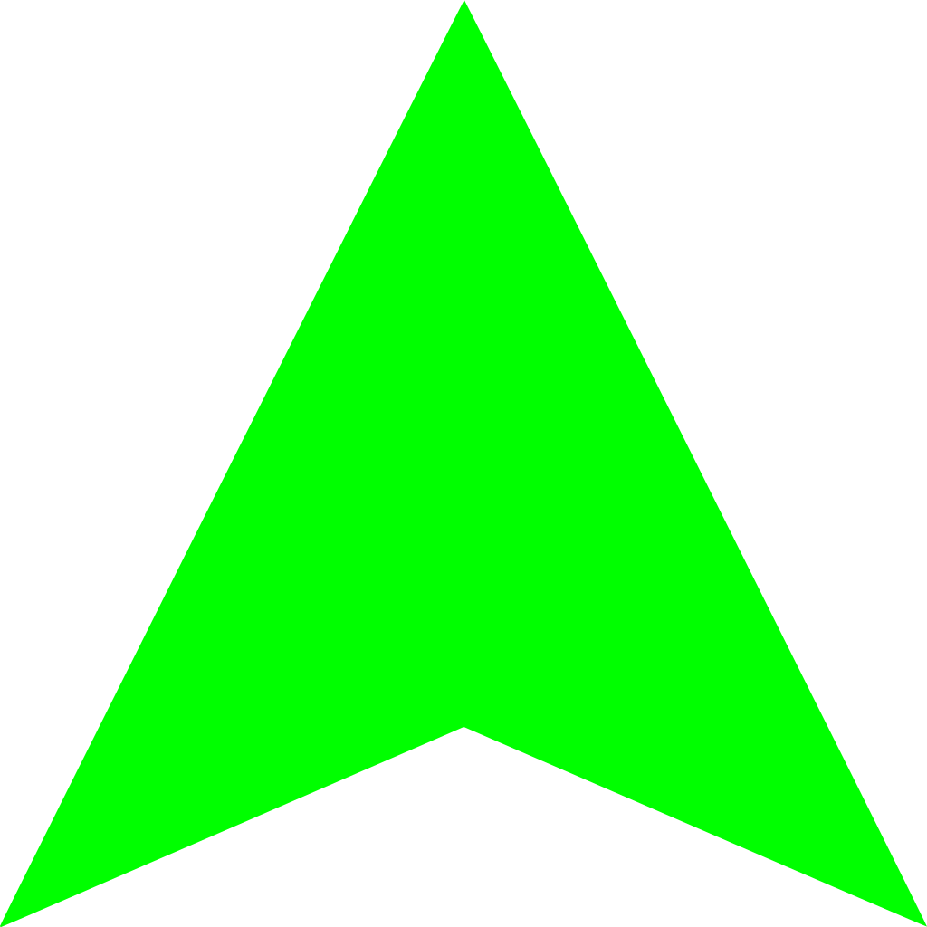 green arrow up png