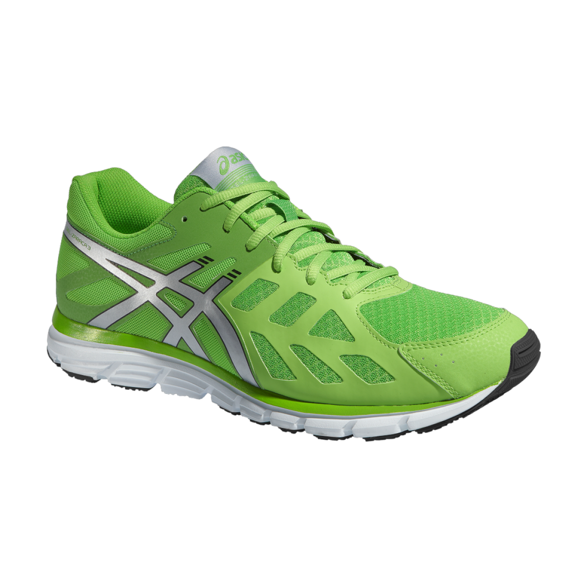 green asics running shoes png image