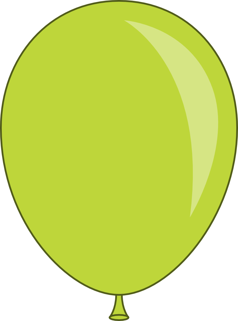 Green Balloon Png image #28093