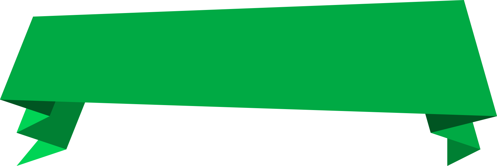 Green Banner Png image #40202