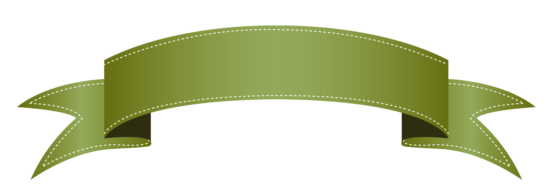 green banner png