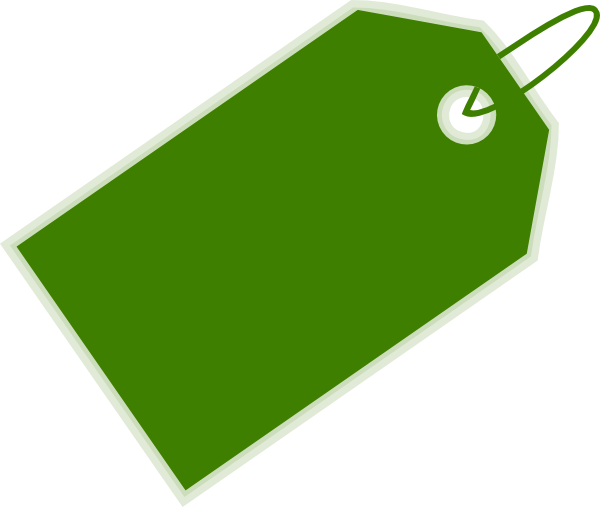 Green Blank Tag Png image #9217
