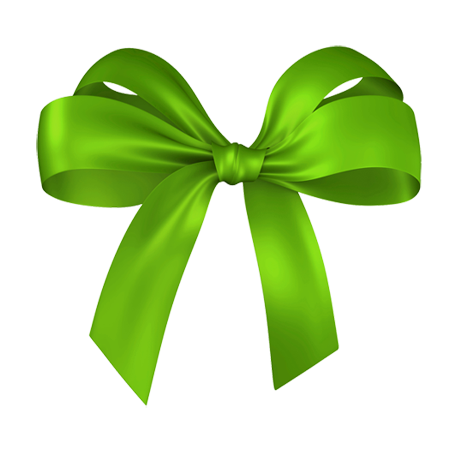 Green Bow Png image #42266