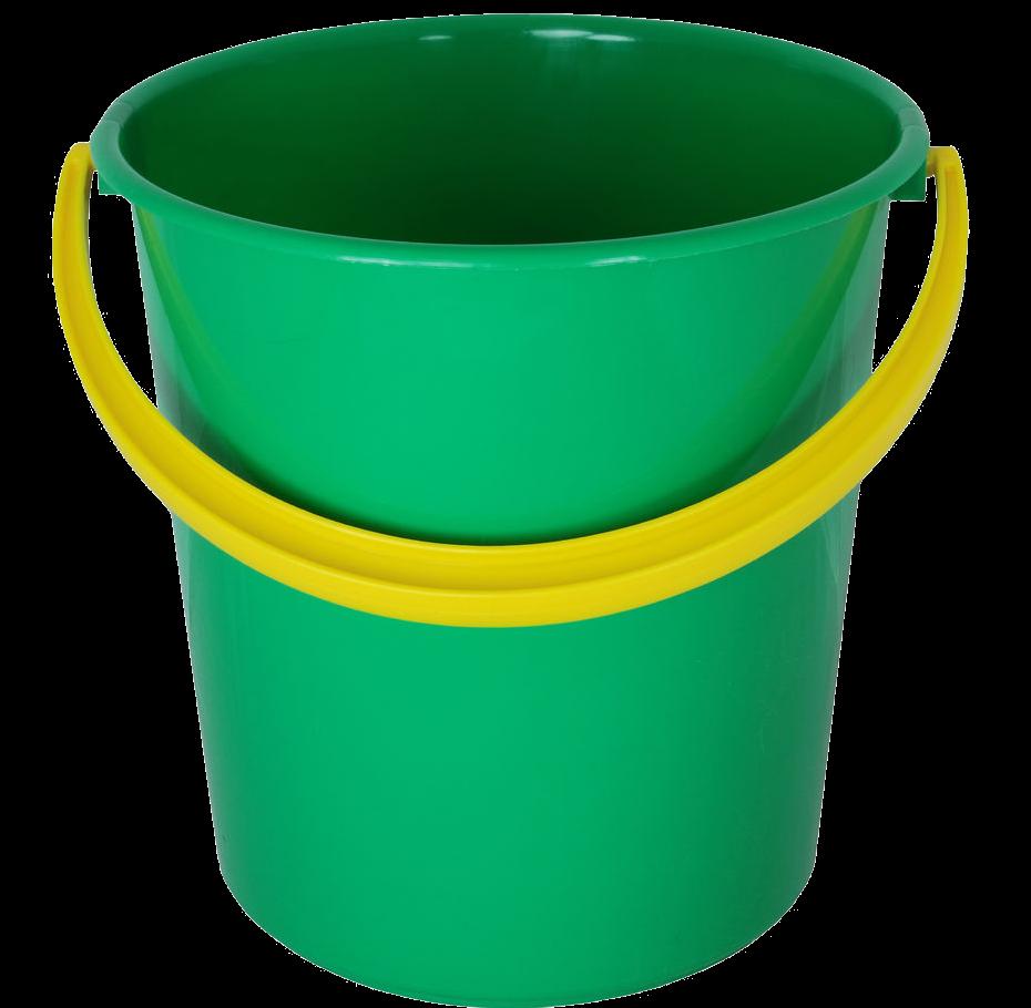 Green bucket, yellow handle Clipart