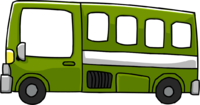 green bus png
