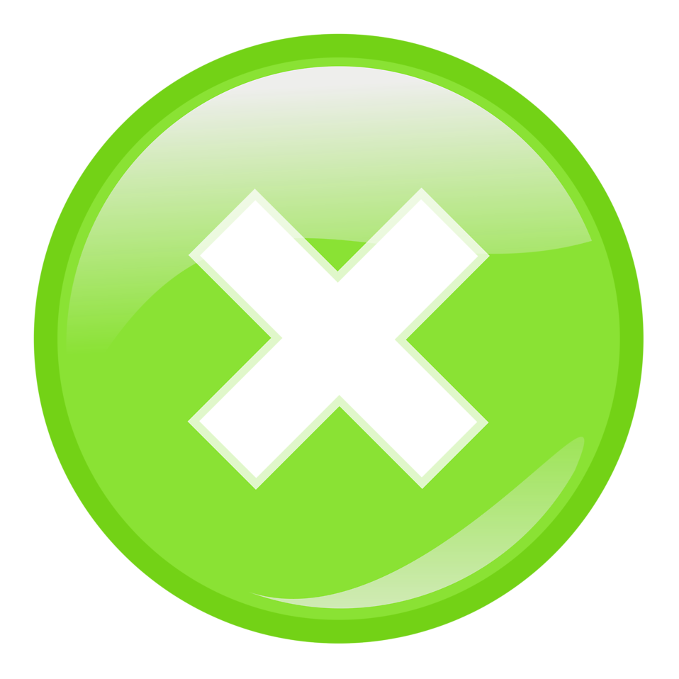 Green Cancel Close Button Png image #30222