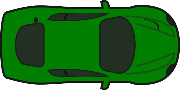Green Car Top View Icon image #11562