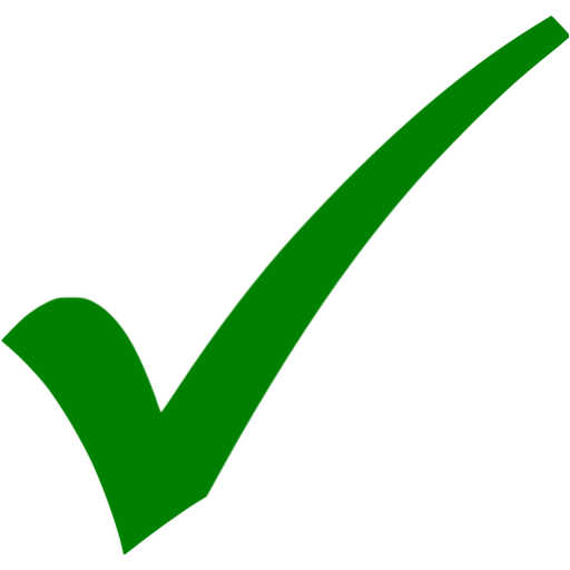Green Check Mark 2 Icon image #45017