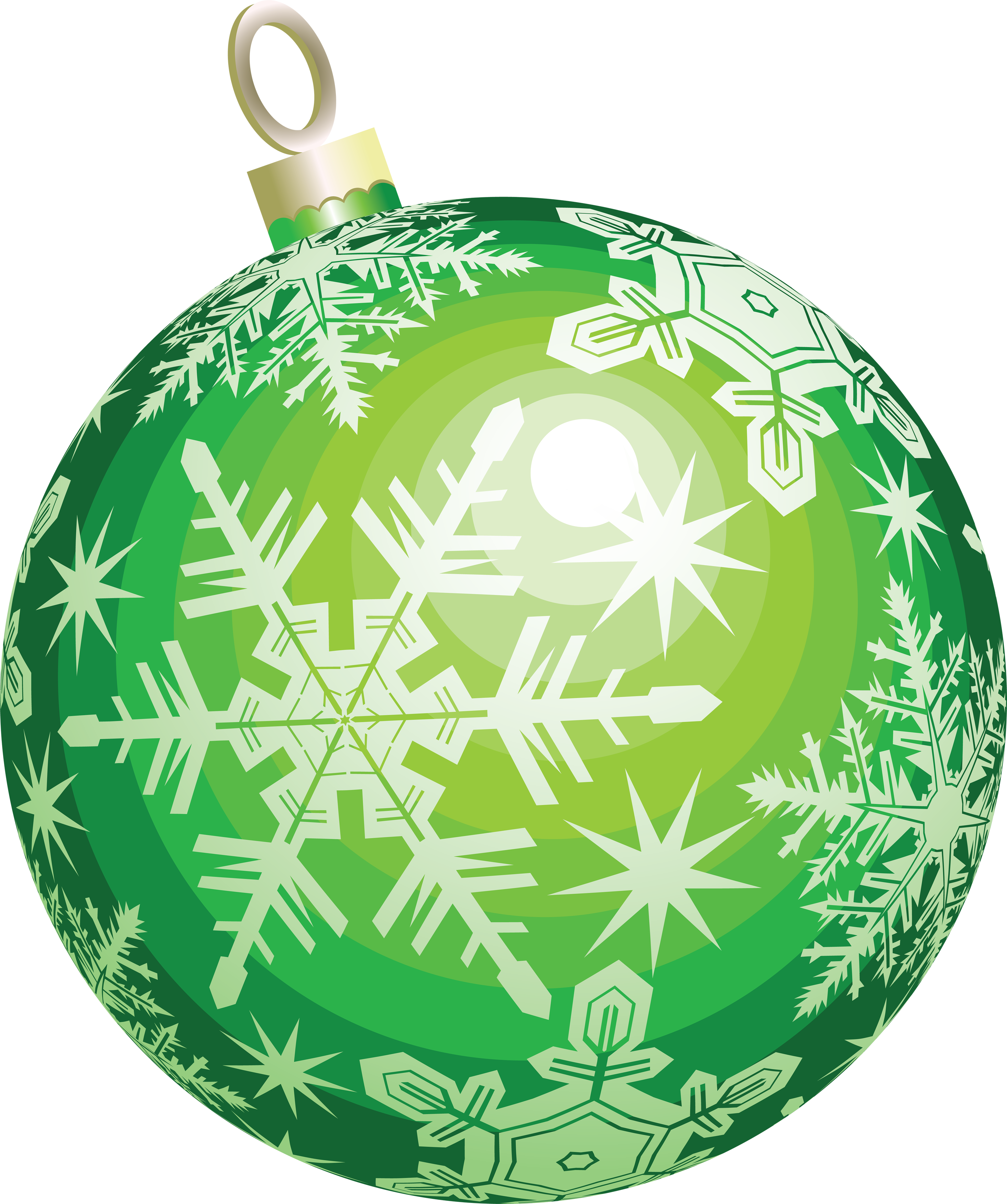 Green Christmas Ornament Ball image #46353