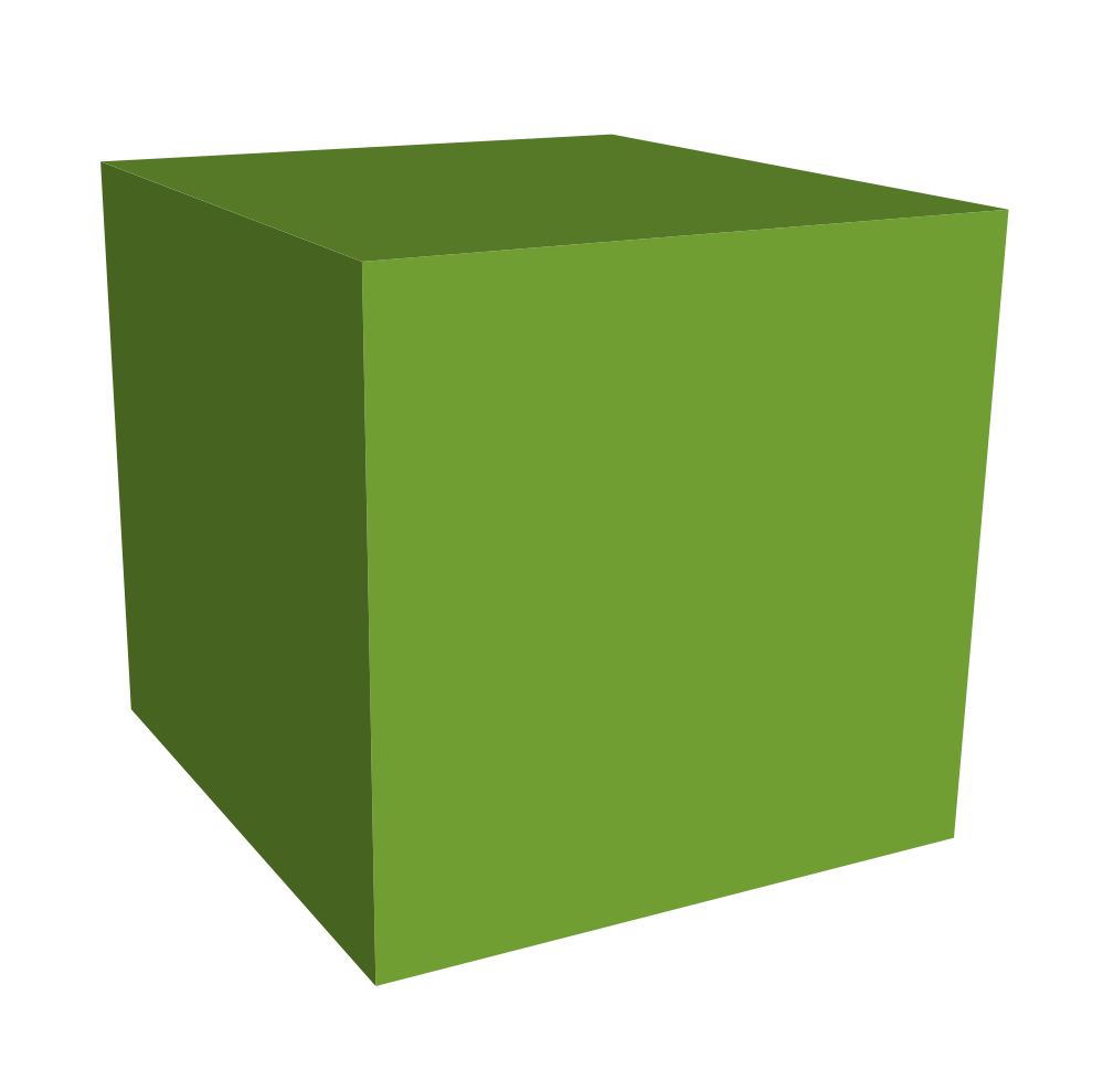 Green Cube 3d Download Png Clipart image #47034