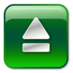 Green Eject Icon image #13929