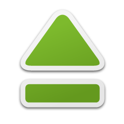 Green Eject Icon image #13955