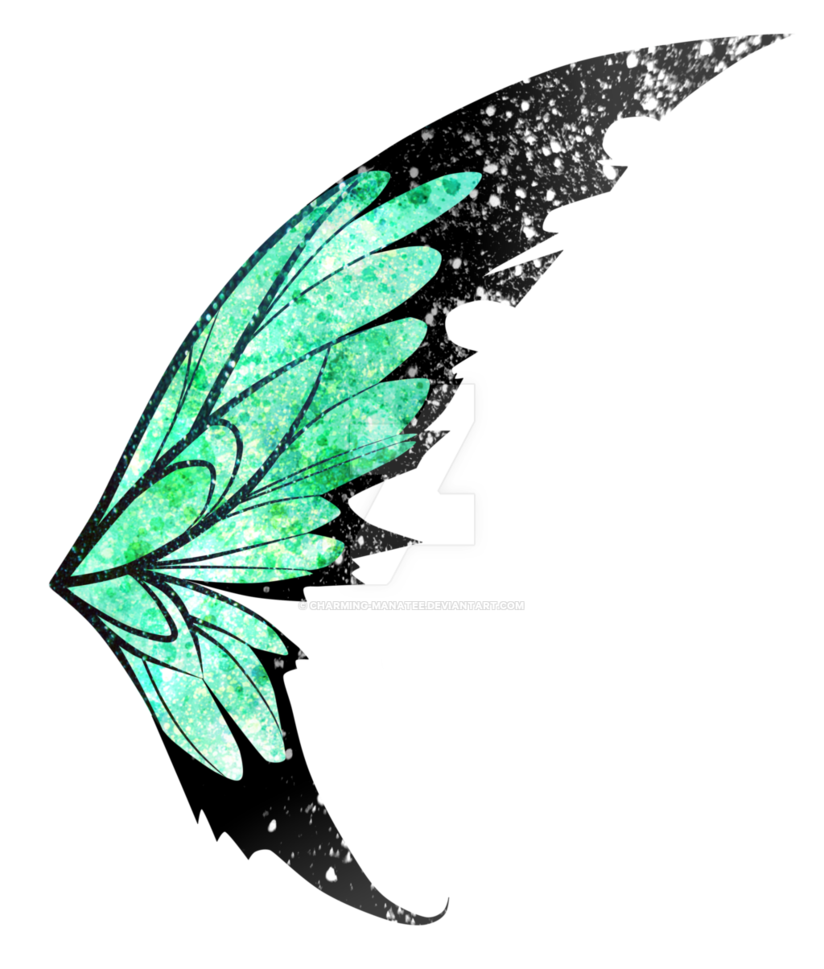 Green Fairy Wings Png image #36487