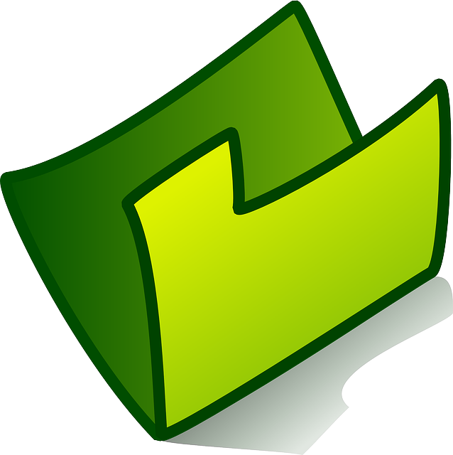 Green Folder Empty Image Icon Png image #31196