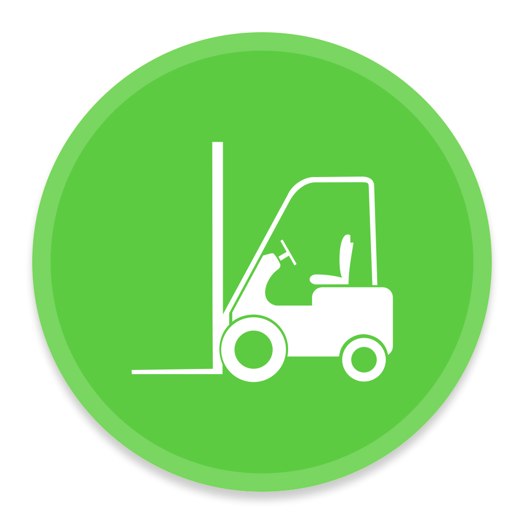 Green Forklift Icon image #33830