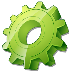 Green Gear Icon