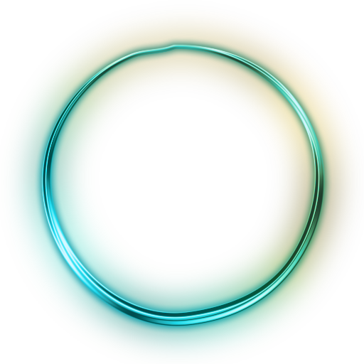 Green Glowing Circle Icon image #16067