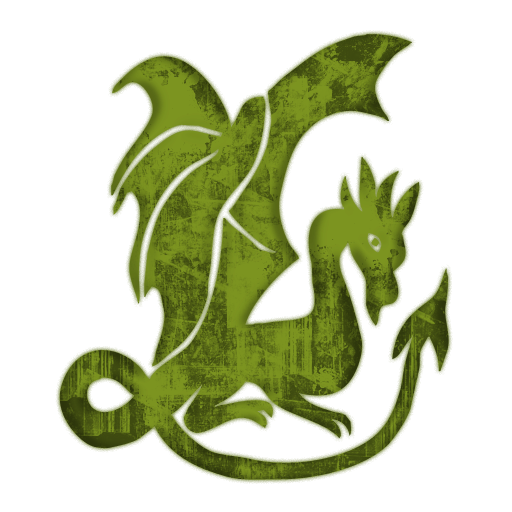 Green Gothic Dragon Icon image #35547