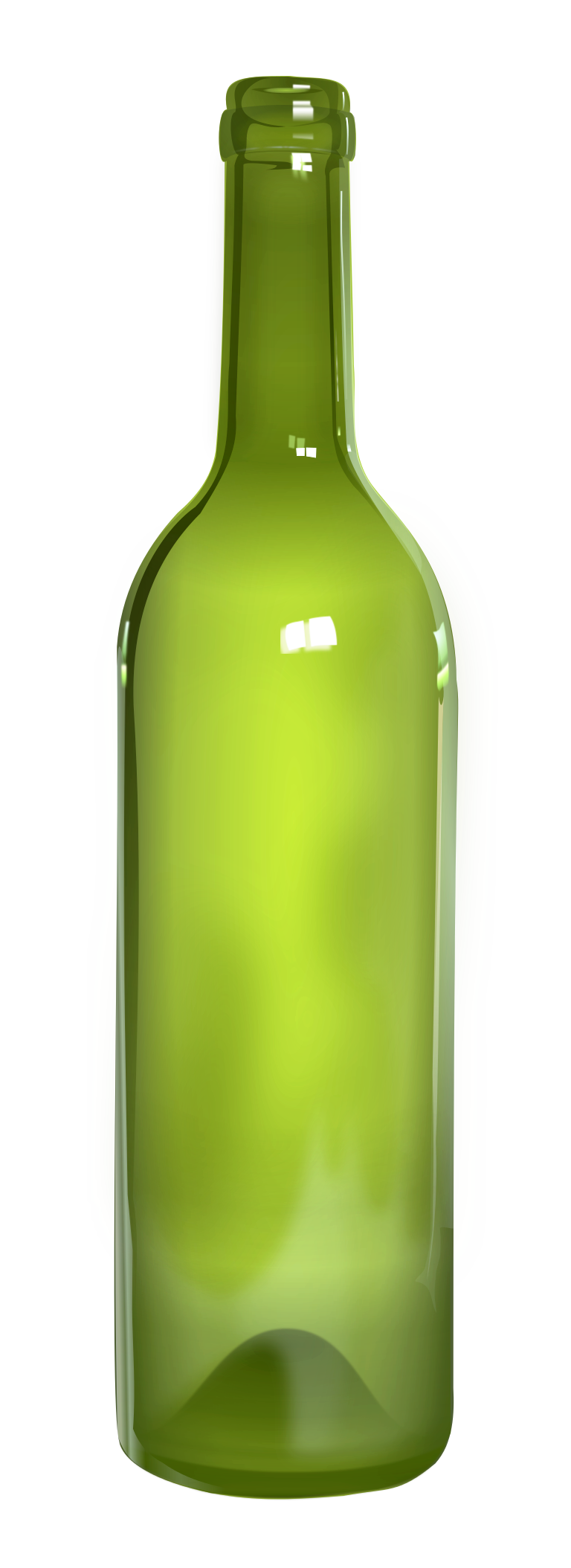 Green Large Glass Bottle image #48921