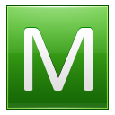 Green Letter M Icon Png image #10571
