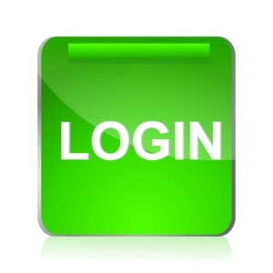 Green Login Icon vector